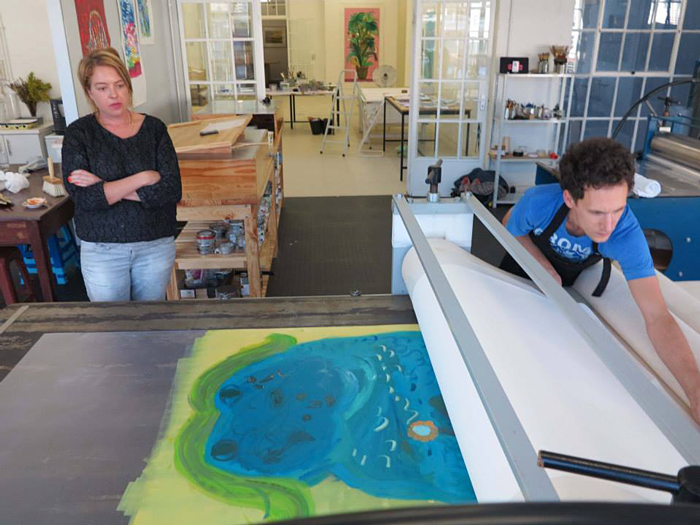 Georgina Gratrix Making Monotypes Printmaking