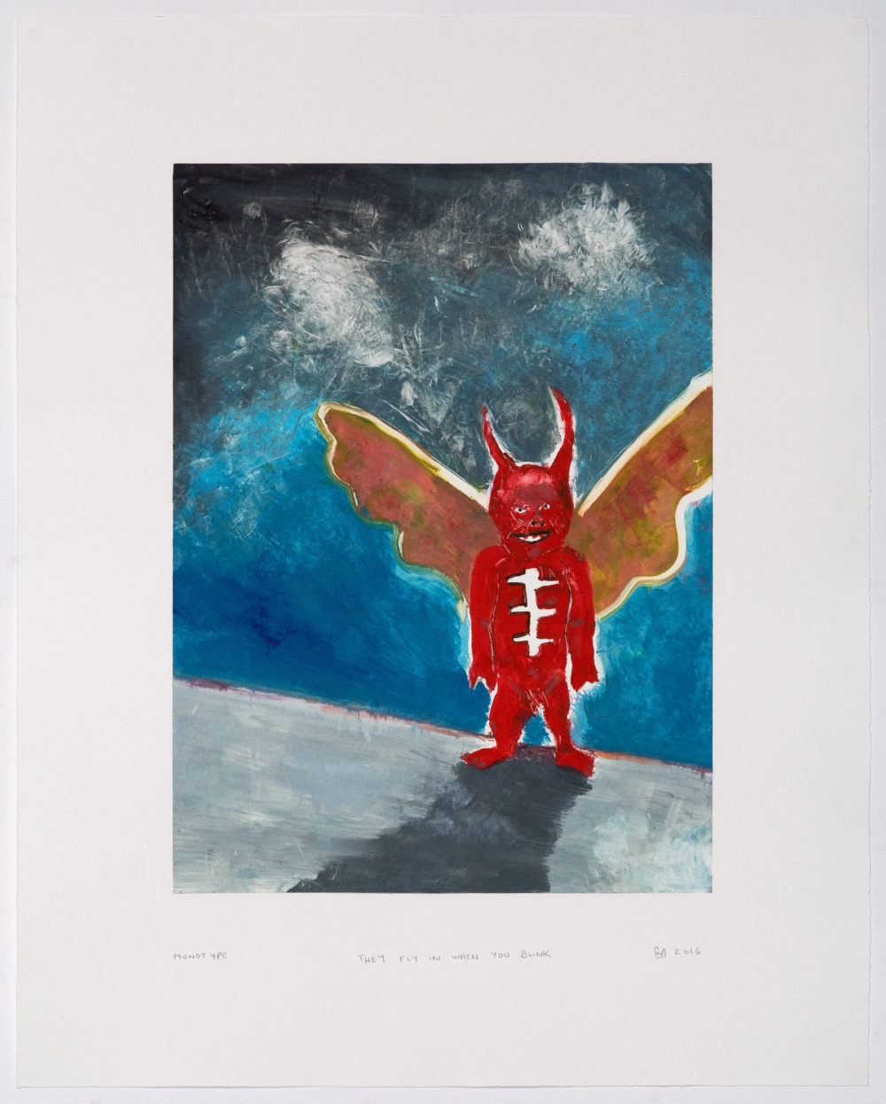 Wilhelm Saayman, Monotypes, Prints, They Fly In When You Blink