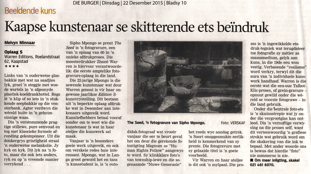Die Burger Review Sipho Mpongo