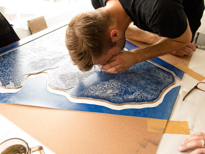 Dan Halter Printmaking Linoleum Block Linocut