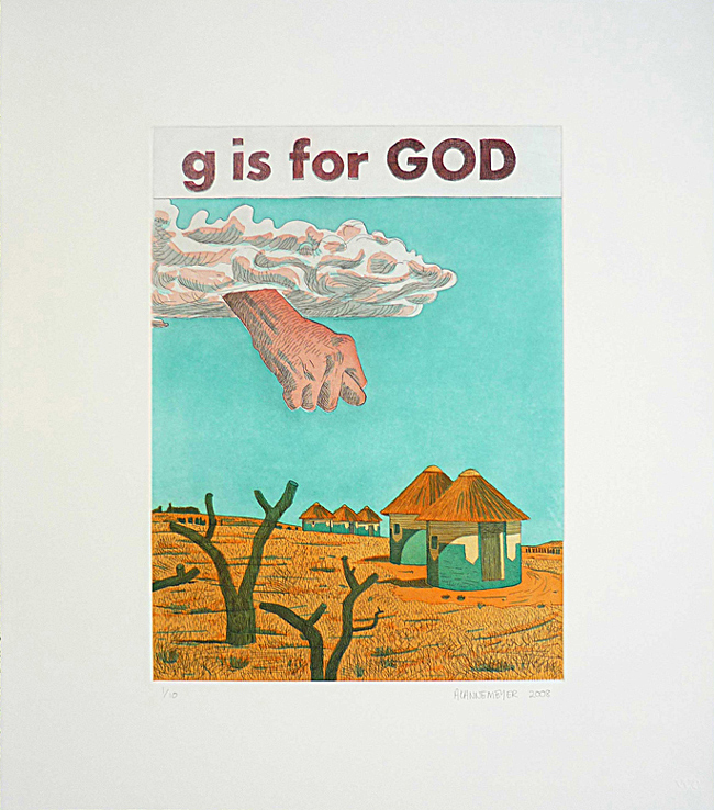 Anton Kannemeyer, g is for God, Prints