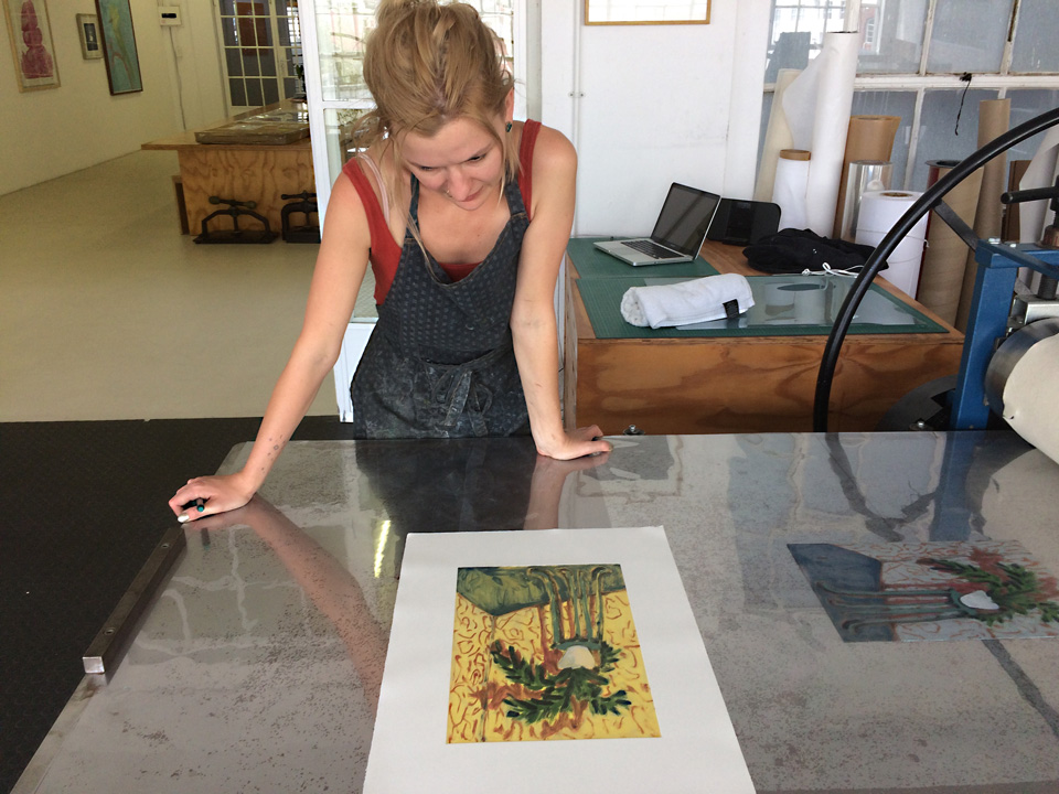 Mia Chaplin Monotype Prints