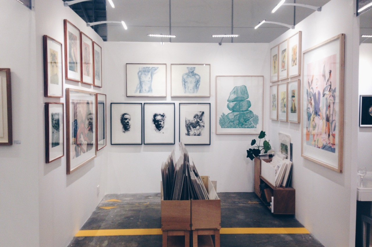Warren Editions booth at Cape Town Art Fair 2017