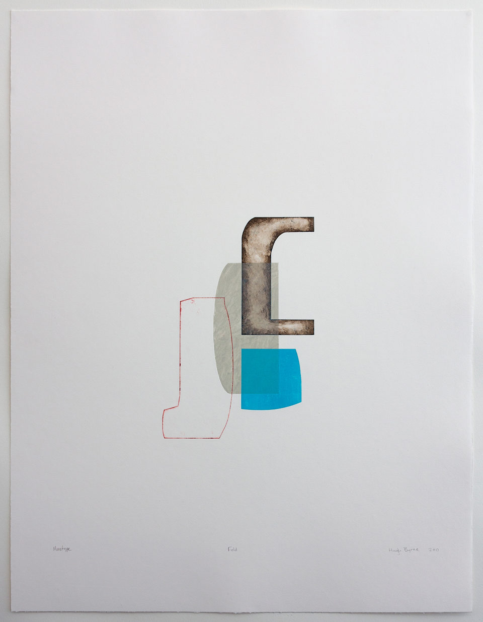 Hugh Byrne, Fold, Monotype, Prints