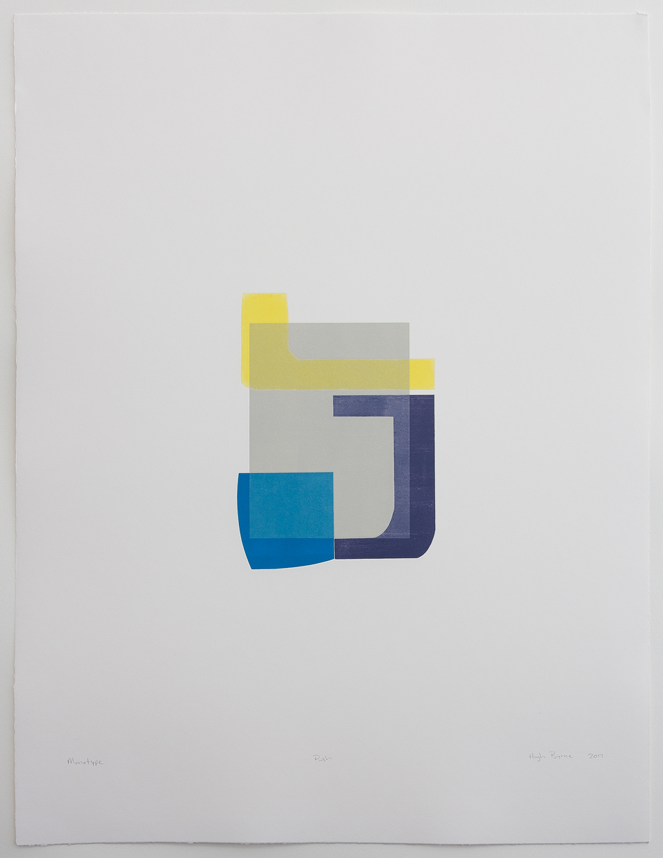 Hugh Byrne, Push, Monotype, Prints