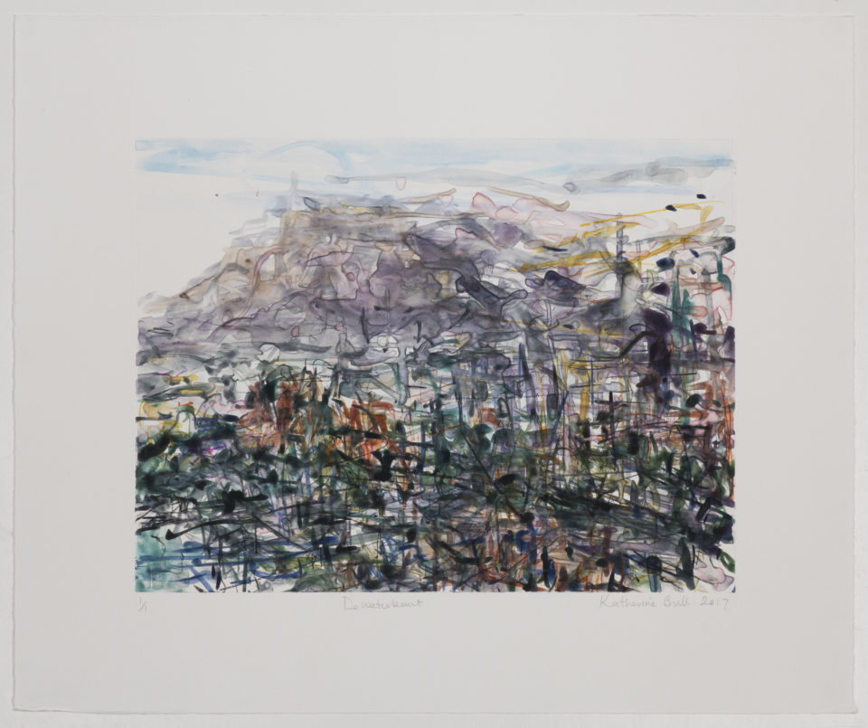 Katherine Bull, De waterkant, Monotypes, Prints