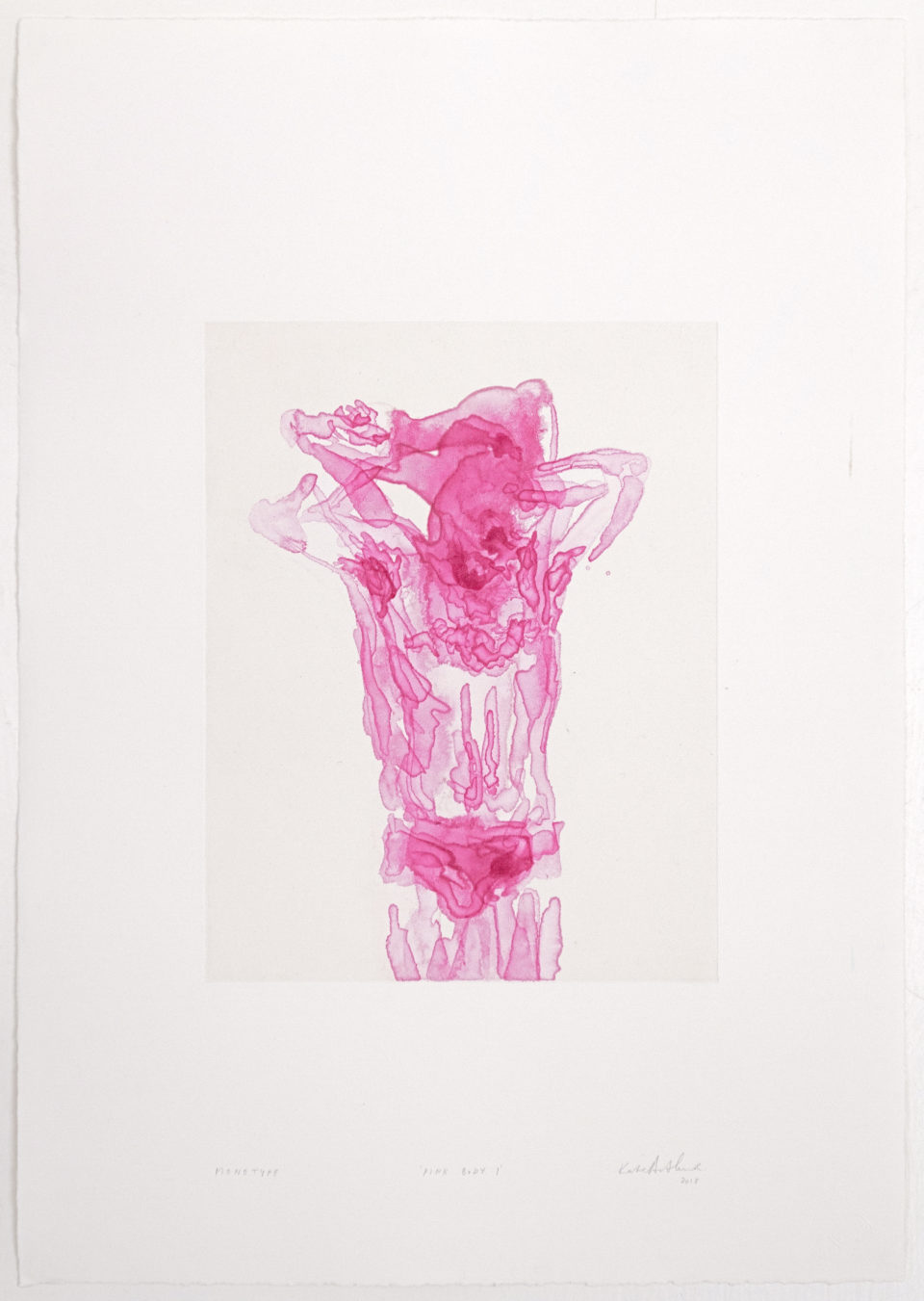 Kate Arthur, Pink Body 1, Monotypes, prints