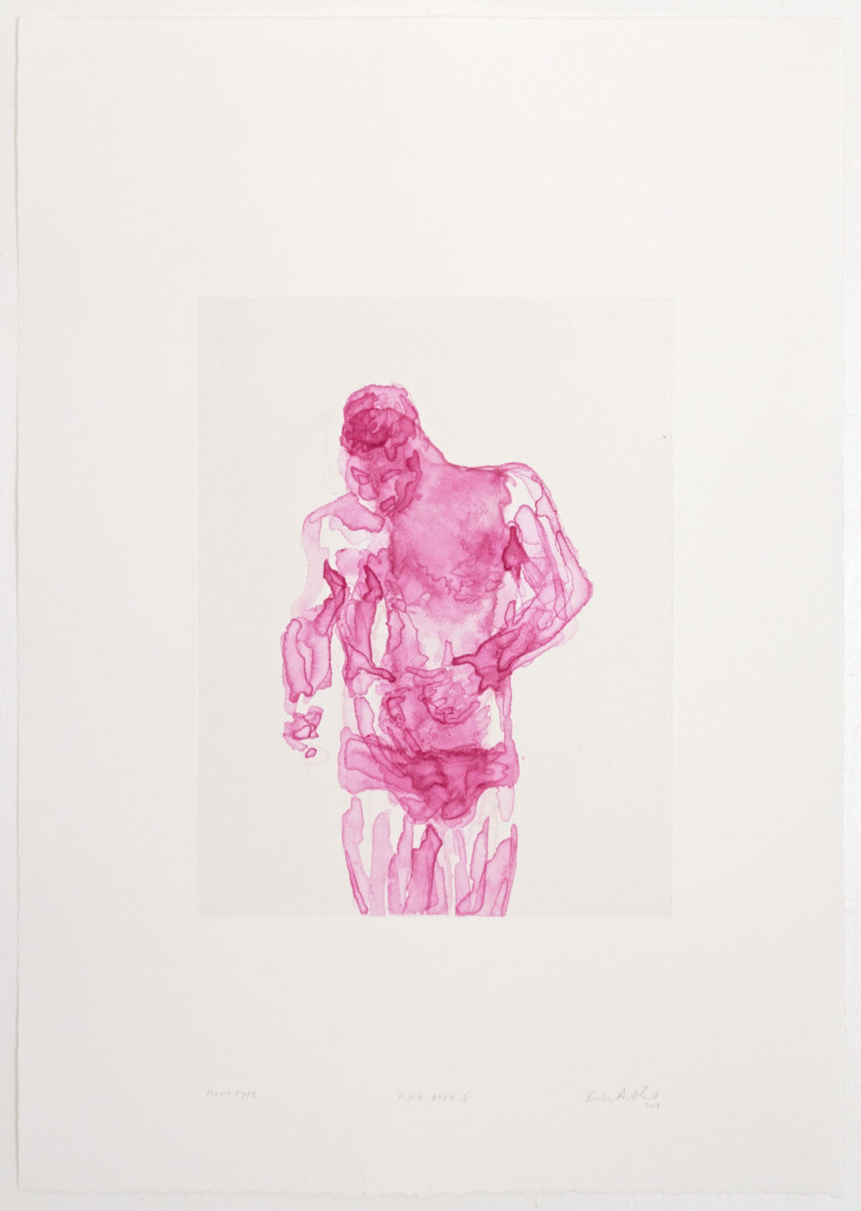Kate Arthur, Pink Body 2, Monotypes, prints