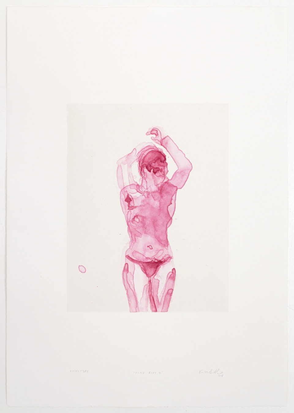 Kate Arthur, Pink Body 7, Monotypes, prints