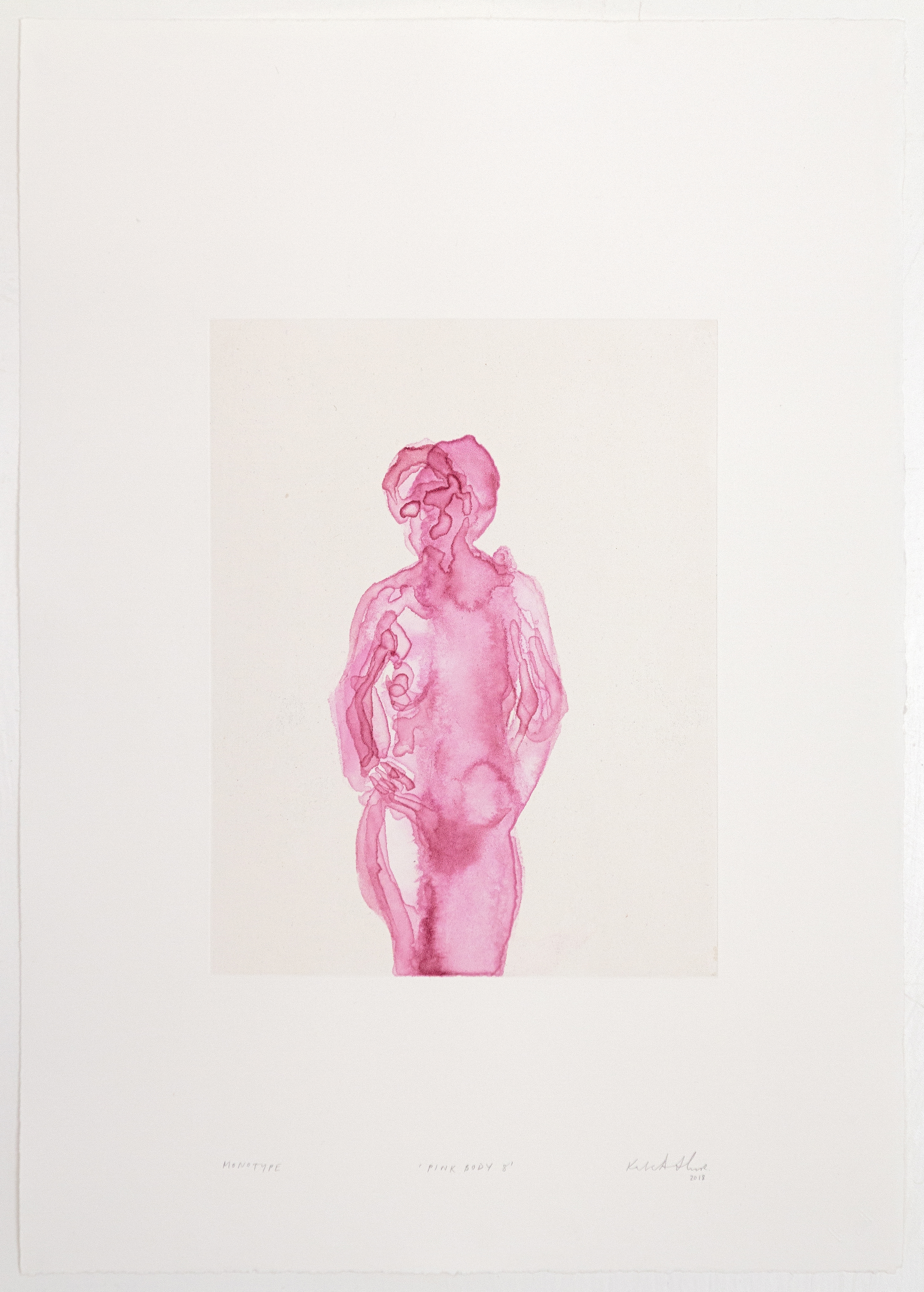 Kate Arthur, Pink Body 8, Monotypes, prints