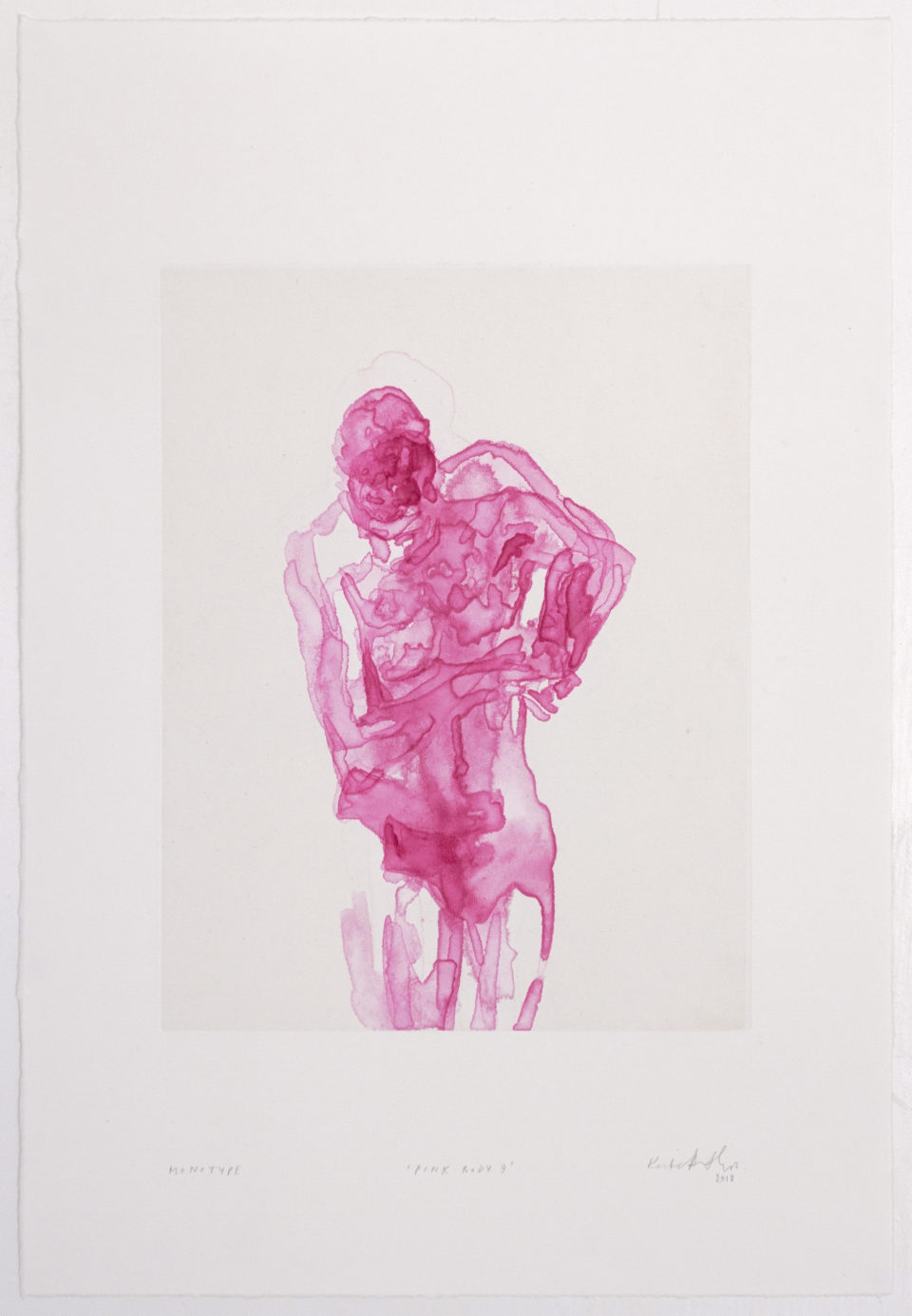 Kate Arthur, Pink Body 9, Monotypes, prints