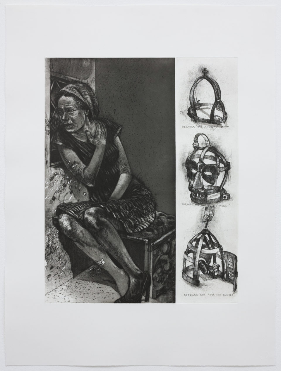 Diane Victor, Because She Took Her Chances, Etchings, Prints