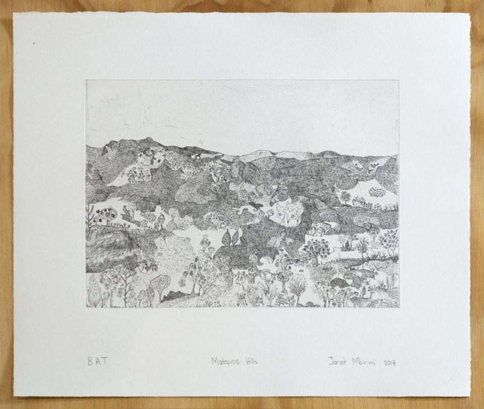 JanetMbrimi, Matopos Hills, Prints, Etching